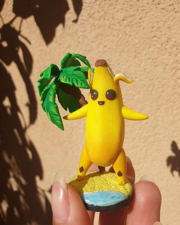 堡垒之夜手游同人作品 香蕉黏土作品