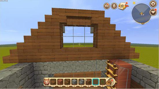 迷你世界房子教程二楼窗框