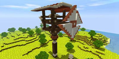 迷你世界风车制作教程