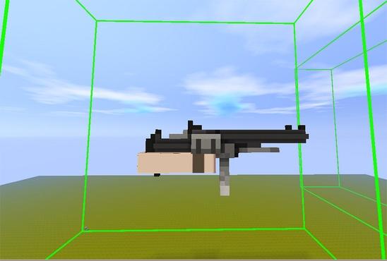 迷你世界模型道具微缩台制作枪