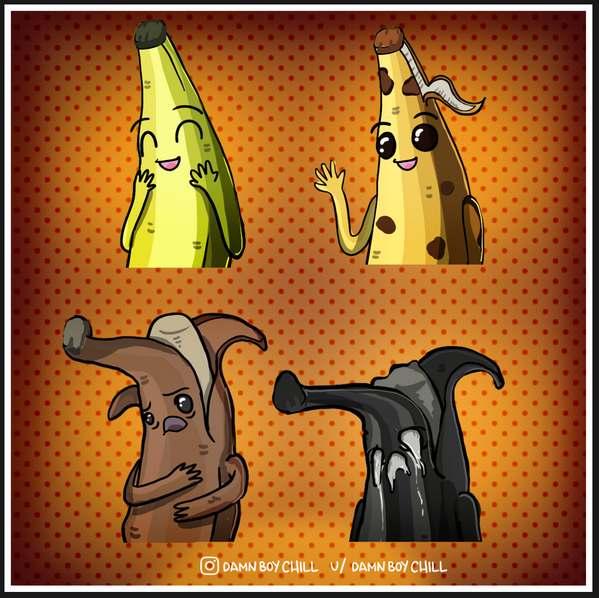 堡垒之夜手游同人作品 香蕉皮肤