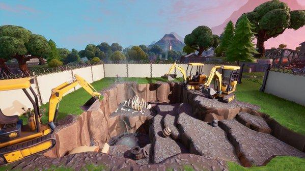 堡垒之夜地面频频圈地施工 战利湖施工于昨日完工