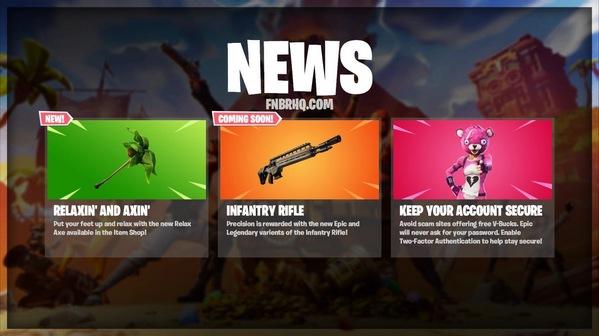 堡垒之夜将推出新武器:史诗传奇品质步枪