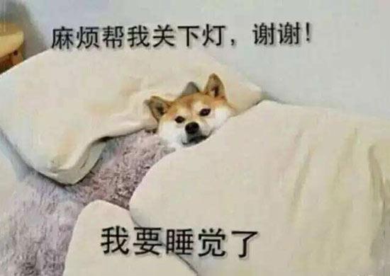 我要睡觉了