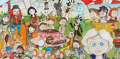 第五人格手绘第五期作品赏析 本期主题周年庆