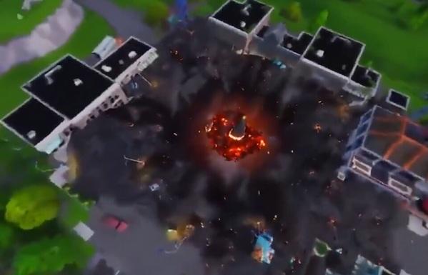 堡垒之夜手游战利湖第四颗符文落位 火山喷发斜塔小镇零售被毁?