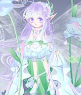 奥比岛洋桔梗靛蓝精灵装
