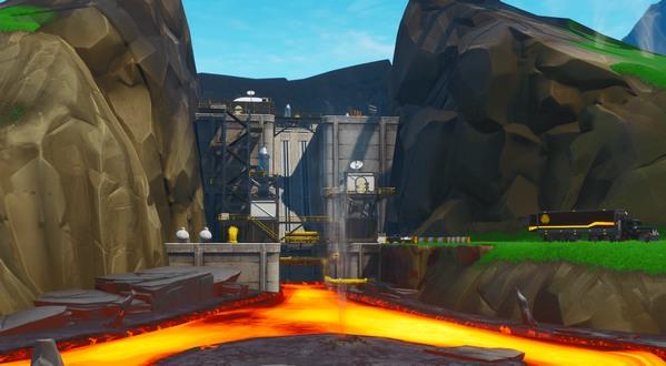 堡垒之夜v9.0地图改动 炫彩斜塔巨型商场和岩浆电厂