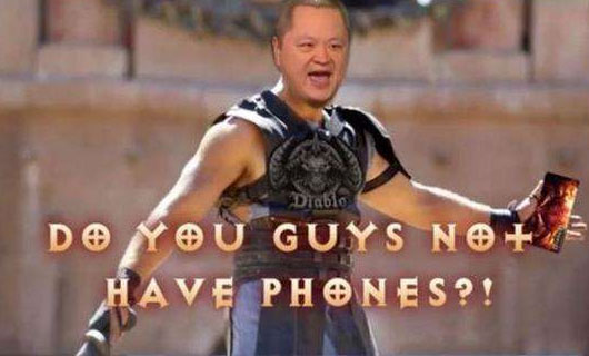 你们都没有手机吗