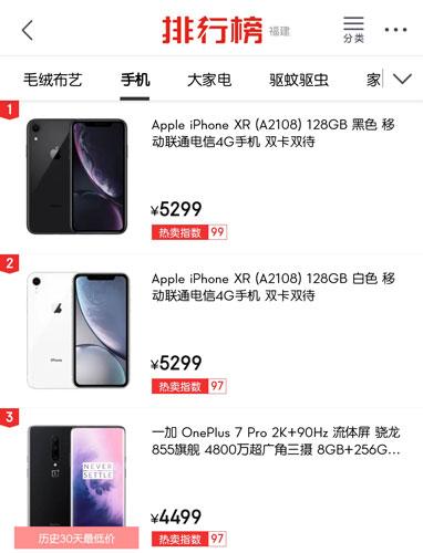 618手机销售排行