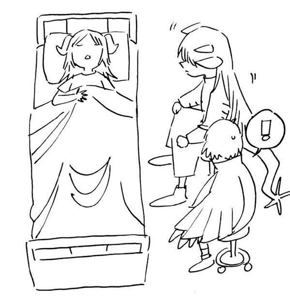 明日方舟七夕涂鸦第二条 赫默和塞雷娅