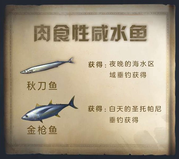 明日之后钓鱼系统