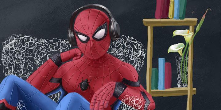 一周神回复:是冰凉的雨胡乱拍在蜘蛛侠的脸上