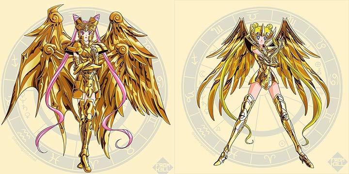 美少女战士版黄金圣斗士 娘化12星座你爱了吗?