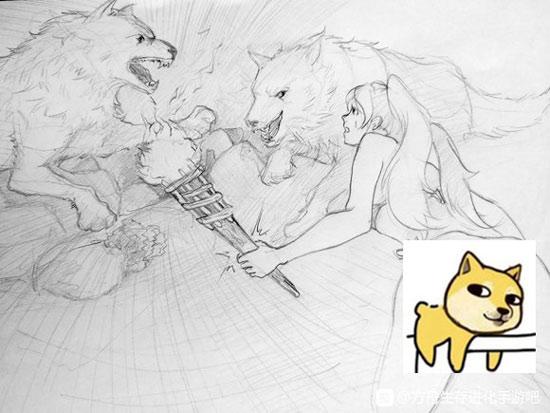 方舟生存進化玩家手繪