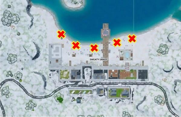 堡垒之夜冰冻烟花在哪里 点燃在潮湿沙滩崖城或