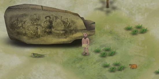 挨饿荒野蒙古戈壁