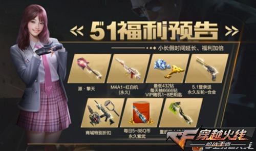 cf手游活动中心送永久武器图片