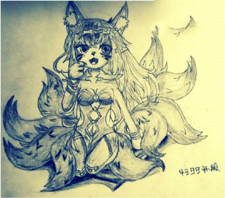 造梦西游5绘画手绘九尾灵狐