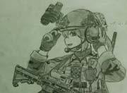 生死狙击玩家手绘-惭4战术型