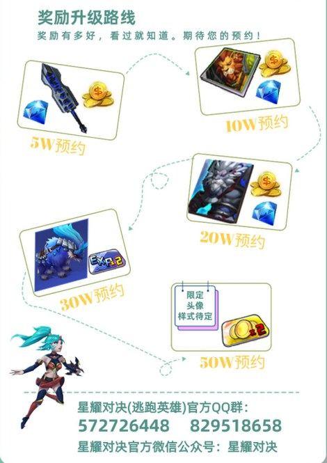星耀对决预约奖励大升级 预约50万送限定专属头像!