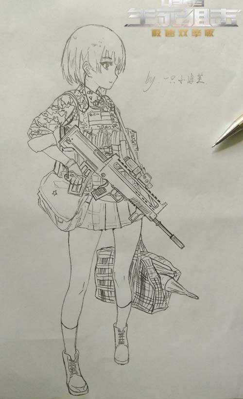 生死狙击玩家手绘 95战术改