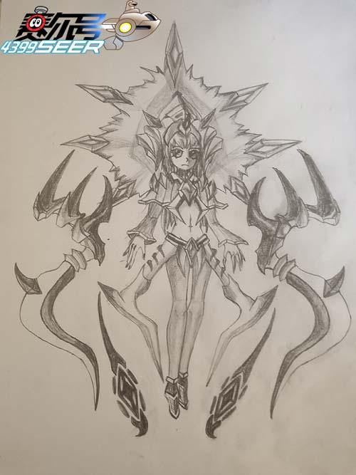 赛尔号手绘 黑暗女皇・咤克斯