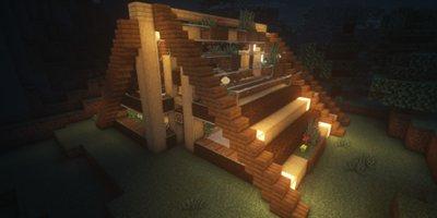 我的世界简易小屋教程 与自然融为一体的清新小木屋!