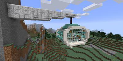 我的世界简易空中缆车教程!没有平地也可以建造温馨小家
