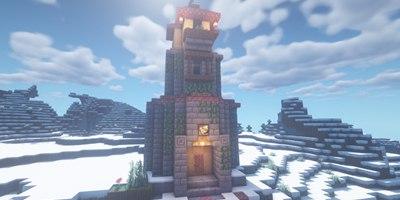 我的世界自然风塔楼教学 站在家里就能远眺