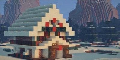 我的世界圣诞小屋建筑教程 圣诞小屋怎么做