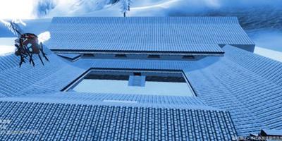 妄想山海房子设计图纸推荐 雪山里的四合院