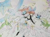 赛尔号手绘 圣光莫妮卡