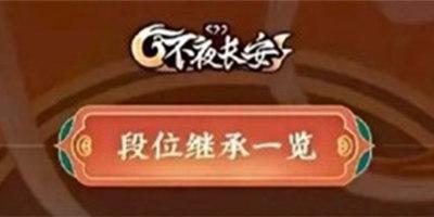 王者荣耀S22赛季结束段位继承 S23赛季段位继承表