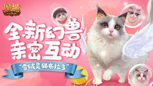 《魔域口袋版》首只能与人互动的幻兽,这么可爱的小猫咪谁不心动呢!