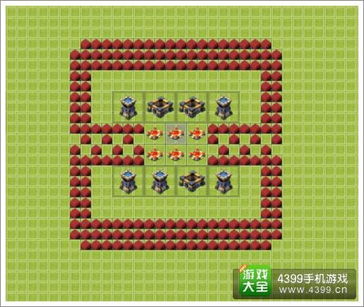 城堡争霸20本方形阵布局推荐 平面直观图